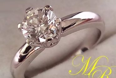 Genuine Non-Clarity Enhanced Diamond Engagement Rings in Solid Gold