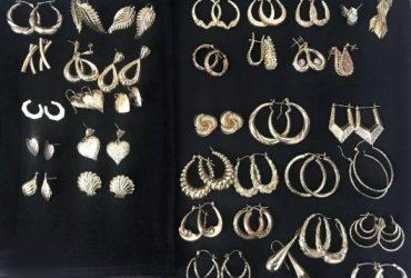 RUSH SALE 75 grams 14k Gold 36 Designer earrings from America