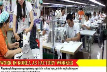 Work in korea as factory worker!