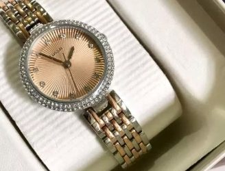 Fossil Watch ES3388 Olive Elegant Two Tone Rose Gold Silver Steel