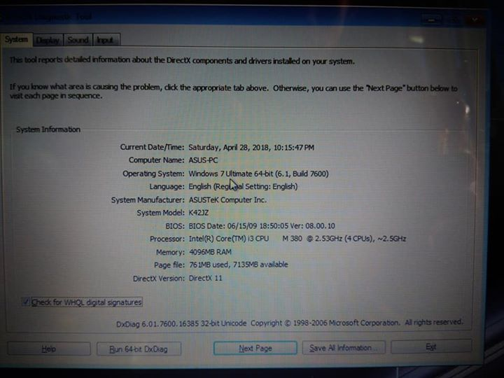 Asus laptop i3 w/ radeon graphics