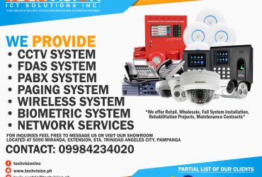 CCTV System, FDAS System, PABX System, Paging System, Wireless System, Biometric, Network Services, IT Equipments