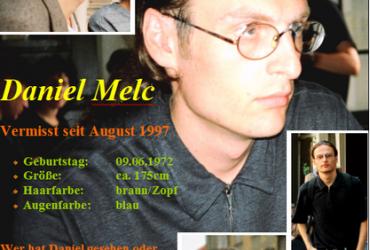 Baden-Württemberg: Daniel Melc, vermisst seit 17.08.1997