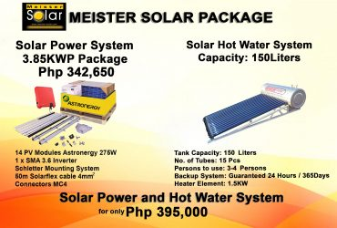 Meister Solar Package Solar Power and Hot Water System