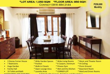 House and Lot For Lease / Sell