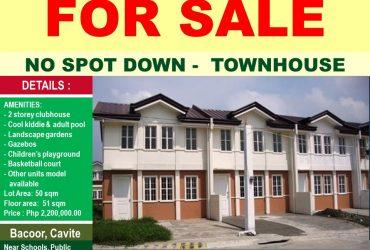 TOWNHOUSE – HOUSE & LOT ….NO spot DOWNPAYMENT, 0% INTEREST