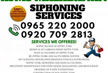 malabanan siphoning plumbing services 09652202000 cavite