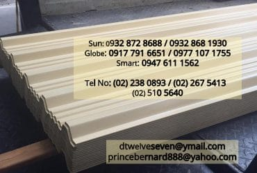 PlasTech Metal Roofing, Corrugated, Ribtype, longspan