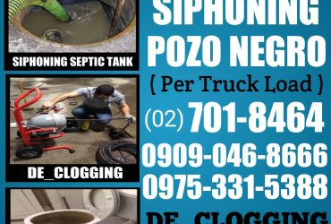 QUEZON CITY MALABANAN SIPHONING SIPSIP POZO NEGRO 09090468666 09753315388 TUBERO