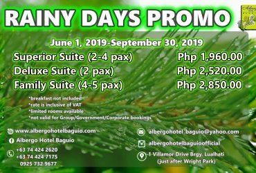 Albergo Hotel Rainy Days Promo 2019