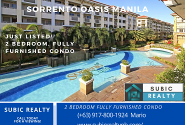 Sorrento Oasis, Pasig, Manila, Condo for sale, 2 bedroom, by Subic Realty