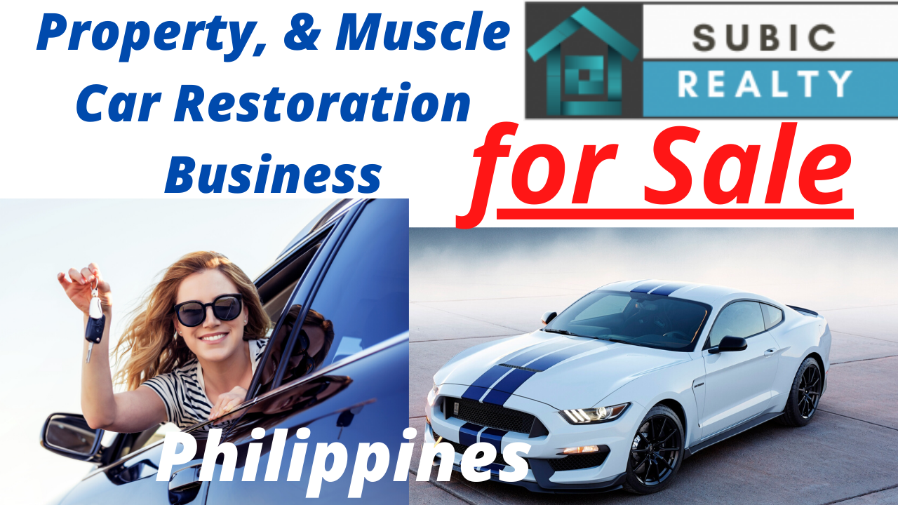 Muscle Car Restoration Business , and Property for Sale, Angeles City, Clark.  Philippines. Nt Realty.
