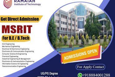 Ramaiah Institute of  Technology Admission (MSRIT) | Collegeadmissioncare.com