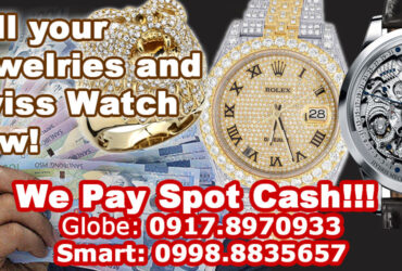 We buy Jewelries w/ diamonds, Swiss watches NOW! Contact 0917.8970933